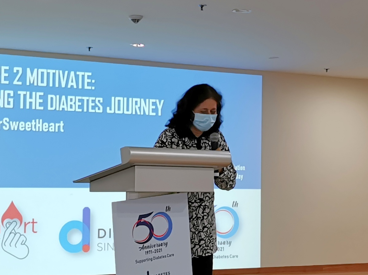 Opening Address by Dr Kalpana, President of Diabetes Singapore